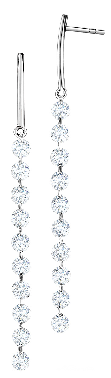 streamer diamond earrings